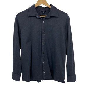 Men's Banana Republic Button Polo Dark Gray Sz XL